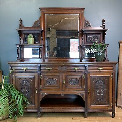 Antique Sideboard Buffet Server Chiffonier Mahogany Cabinet Cupboard Drawers