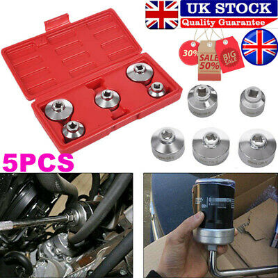 """Oil Filter Socket Set Removal Tool 3/8"""" Drive 24, 27, 32, 36, 38mm Low Profile T"""