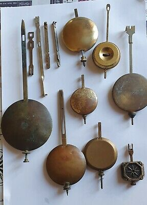 Job Lot Of Clock PENDULUMS includes Fusee and Ansonia some leaders .