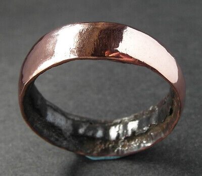 UK Genuine ancient Medieval bronze/copper wedding ring - WEARABLE