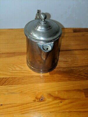 "Small Vintage ""Main Metalware"" Silverplate Pitcher / Creamer With Lid & Patina"