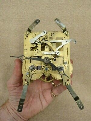 Vintage German 8 Day Striking Clock Movement And Hands
