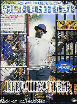 Ice Water Slaughter Life Without Fear Original Houston Texas Rap Promo Poster