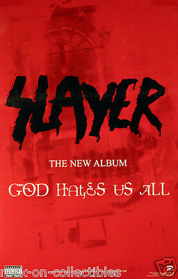 Slayer 2001 God Hates Us All Original Double Sided Promo Poster - Jeff Hanneman