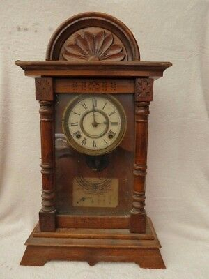 Antique Japanese Aichi Clock Co Striking Shelf Clock For Repair