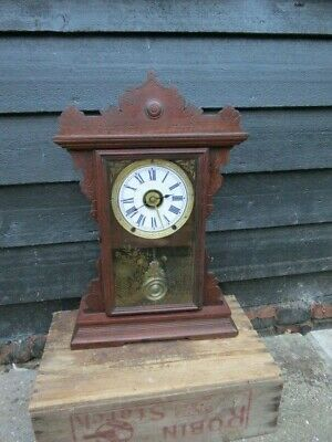 Antique Seth Thomas Alarm Shelf Bracket Clock