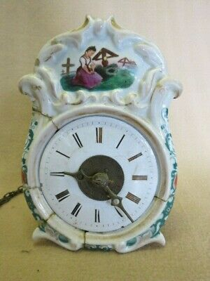 Antique Jockele Striking Shield Dial Black Forest Wall Clock For Restoration