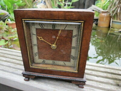 Lovely Small Art Deco Asprey Spring Driven Mantel Clock