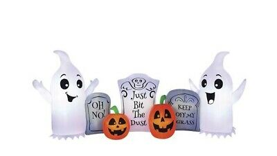 Pumpkin Hollow™ 8 foot Ghost and Tombstone Halloween Inflatable