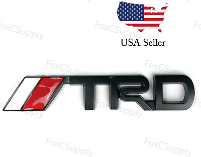 Black Emblem Decal Badge Trunk For Toyota TRD 3D Black Metal Logo 1 x 3 Inch