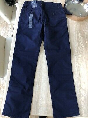 Gap Boys Long Trousers. Navy Blue Chinos Age 12. BNWT. RRP £22.99