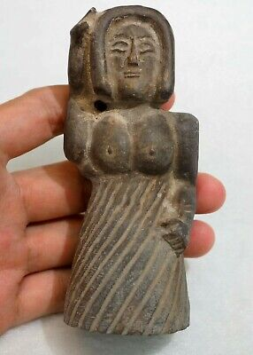Ancient goddess deity statue indus valley Love goddess Figure Amulet Clay Statue