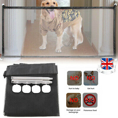 180x75cm Magic Pet Barrier Net Dog Cat Safety Stair Gate Guard Fence Separation
