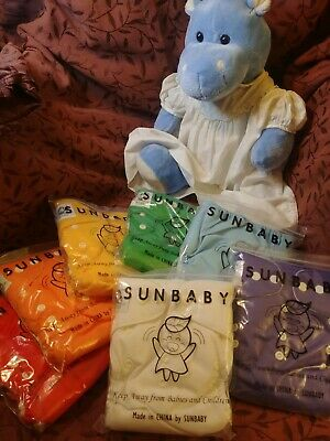 Lot Of 2 Dozen New SunBaby Cloth Diapers/Covers NIP, Diaper Pail, Doublers