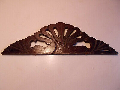 Antique Ansonia Waterbury Gingerbread Parlour Clock Fan Top Crown Trim