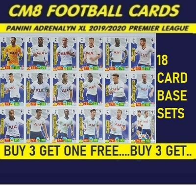Panini Premier League Adrenalyn XL 2019/2020 Choose your 18 Card  Base Sets