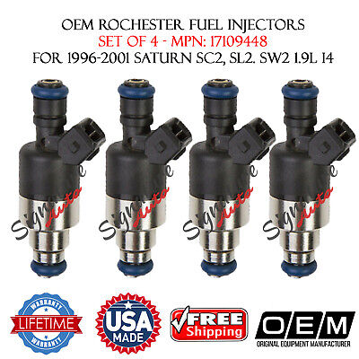 Genuine  Rochester Set of 4 Fuel Injectors for Saturn 96-01 SL2 SC2 CW2 1.9L