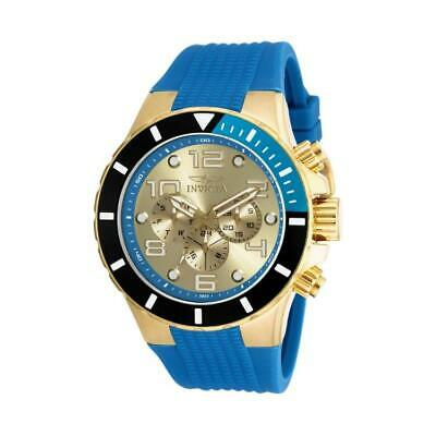 Invicta 18740 Men's Pro Diver Gold-Tone and Blue Plastic Chronograph Watch