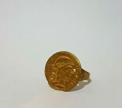Rare Ancient Roman Bronze Ring, Antique Ring Authentic Very Stunning