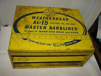 Advertising Weatherhead metal cabinet Master Barbliner yellow  BL-15 for fuel