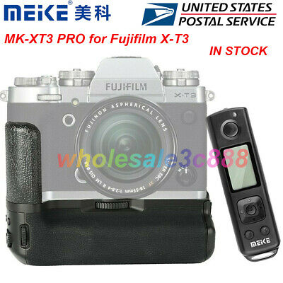 Meike XT3 Pro Vertical Battery Grip with 2.4G Remote for Fujifilm X-T3 Camera