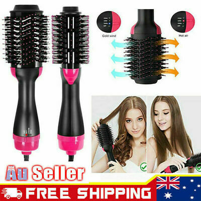 4 in 1 Collection Salon One-Step Hair Dryer and Volumizer Oval Brush Comb AU
