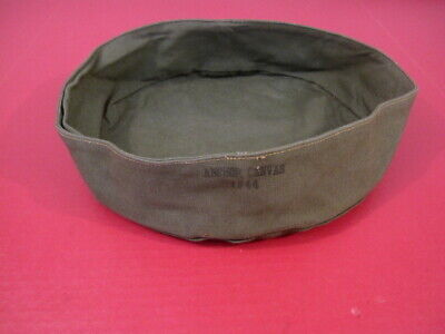 WWII Era US Army OD Green Canvas Collapsible Wash Basin - Dated 1944 - Unisssued