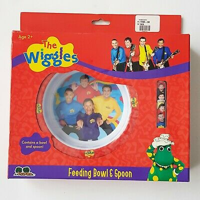 Rare 2009 The Wiggles Feeding Bowl And Spoon Set New In Box