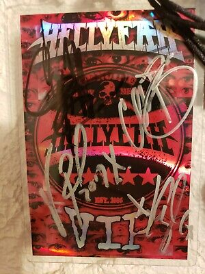 hellyeah autographed vip pass