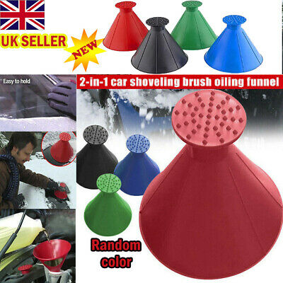 Magical Car Windshield Ice Snow Remover Scraper Tool Cone Shaped Round Funnel AB