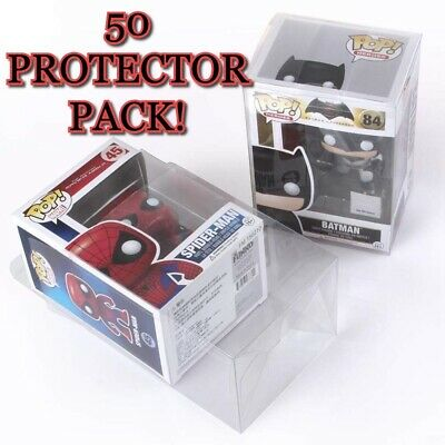 50 Clear Plastic Protector Cases for Funko Pop 4 inch Vinyl Figures Acid Free