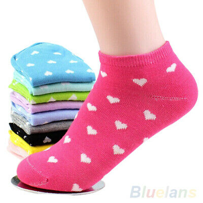 5 Pairs Women Casual Socks Girls Ankle High Low Cut Elastic Sport Cotton Socks