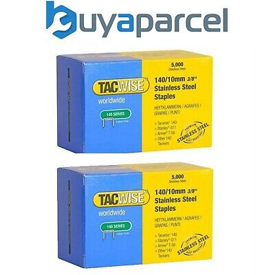 2 x Tacwise 0477 140 Series Stainless Steel Staple Selection Pack 10mm x 5000