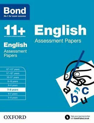 Bond 11+: English: Assessment Papers 7-8 years by Sarah Lindsay 9780192740014