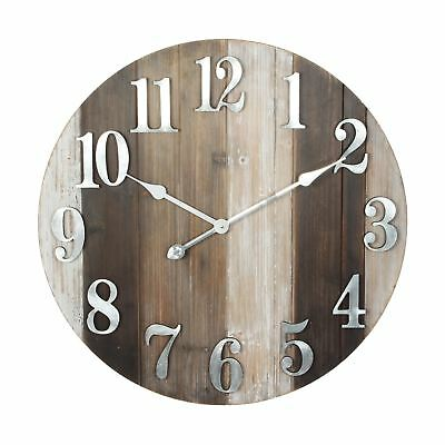 Hometime Large Round Wooden Wall Clock 60cm