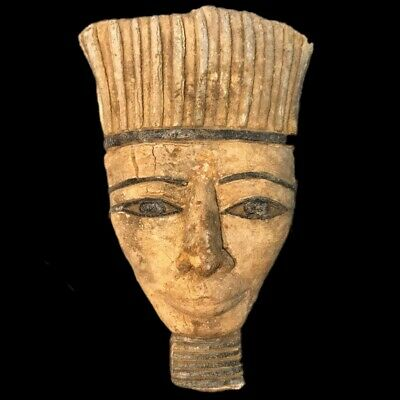 EGYPTIAN PHAROAH BUST STATUE, LATE PERIOD 664 - 332 BC (1) Large Over 13.2 Cm