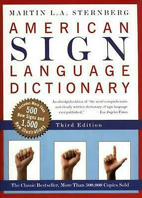American Sign Language Dictionary-Flexi by Martin L.A. Sternberg (English) Paper