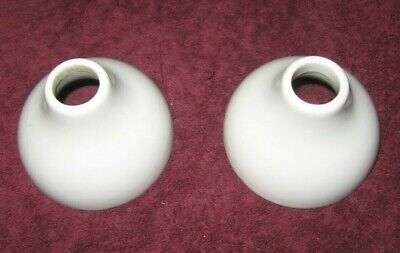 Vintage Pair Mitchell-Bissell White Porcelain Faucet Escutcheons #1335~Stock a