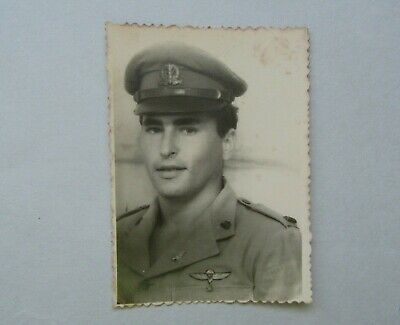 Old Picture of an Officer in the Israeli Military IDF Wearing Badges 1955
