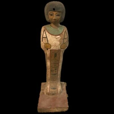 BEAUTIFUL ANCIENT HUGE EGYPTIAN WOODEN STATUE 300 BC (1) 36 Cm TALL !!!!!