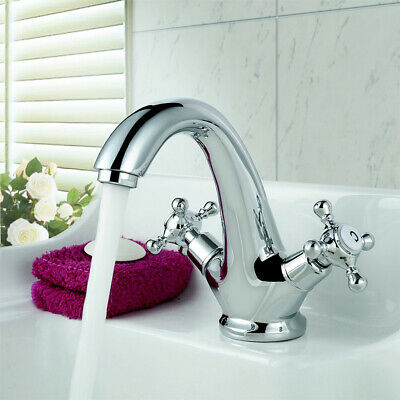 Bath mixer Tap Antique Brass Bathroom vessel sink faucet,Deck Mount Chrome