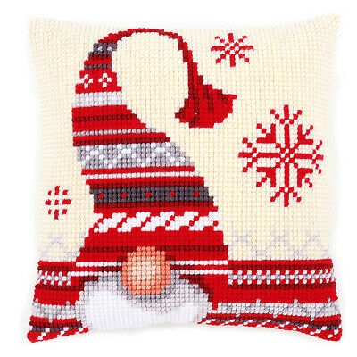 Nordic Elf 1 Large Holed Printed Canvas Tapestry/Chunky Cross Stitch Cushion Kit