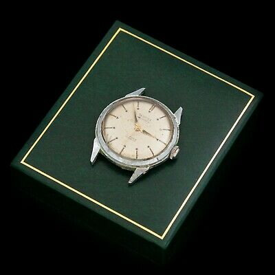Antique Vintage Art Deco Mid Century Stainless Steel French Sormel Mens Watch