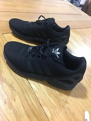 Adidas ZX Flux Torsion Black Trainers Size 4 Older Boys /Junior