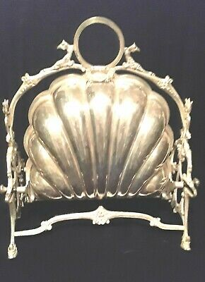 Victorian Biscuit Bun Warmer Antique English Silver Plated