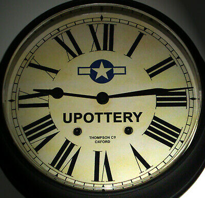 USAAF Style, RAF upottery Souvenir Vintage Style Wall Clock, USA Navy, Airforce