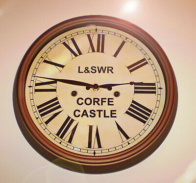 London & South Western Railway, Victorian Style Waiting Room Clock, Corfe Castle