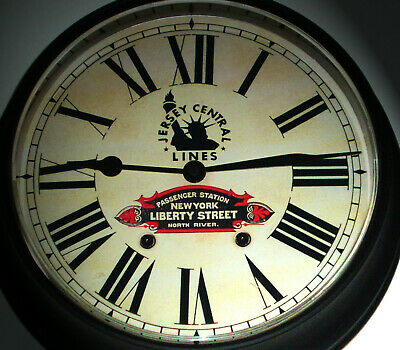 Jersey Central Lines, New York Liberty Street Station Waiting Room Clock 1940s