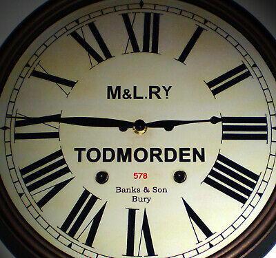M&LRy Manchester & Leeds Railway, Station Wall Clock, Todmorden Station