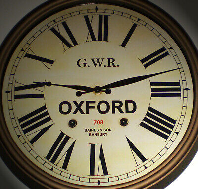 Great Western Railway GWR Victorian Style Clock, Oxford Station